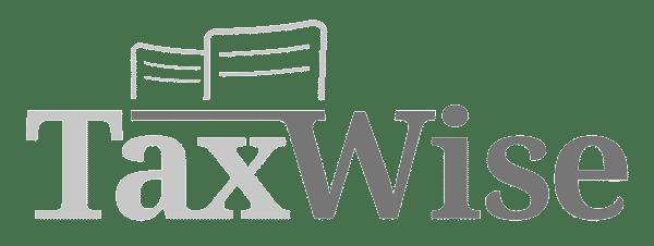TaxWise logo - čiernobiele